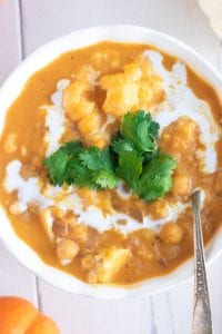 Vegan Pumpkin Chickpea Cauliflower Curry