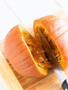Cutting Cooked Pumpkin