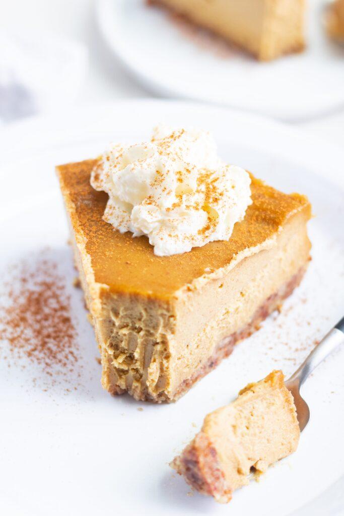 No-Bake Vegan and Gluten-Free Pumpkin Pie
