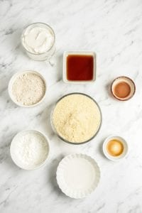 Vegan Gluten-Free Sugar Cut Out Cookie Ingredients