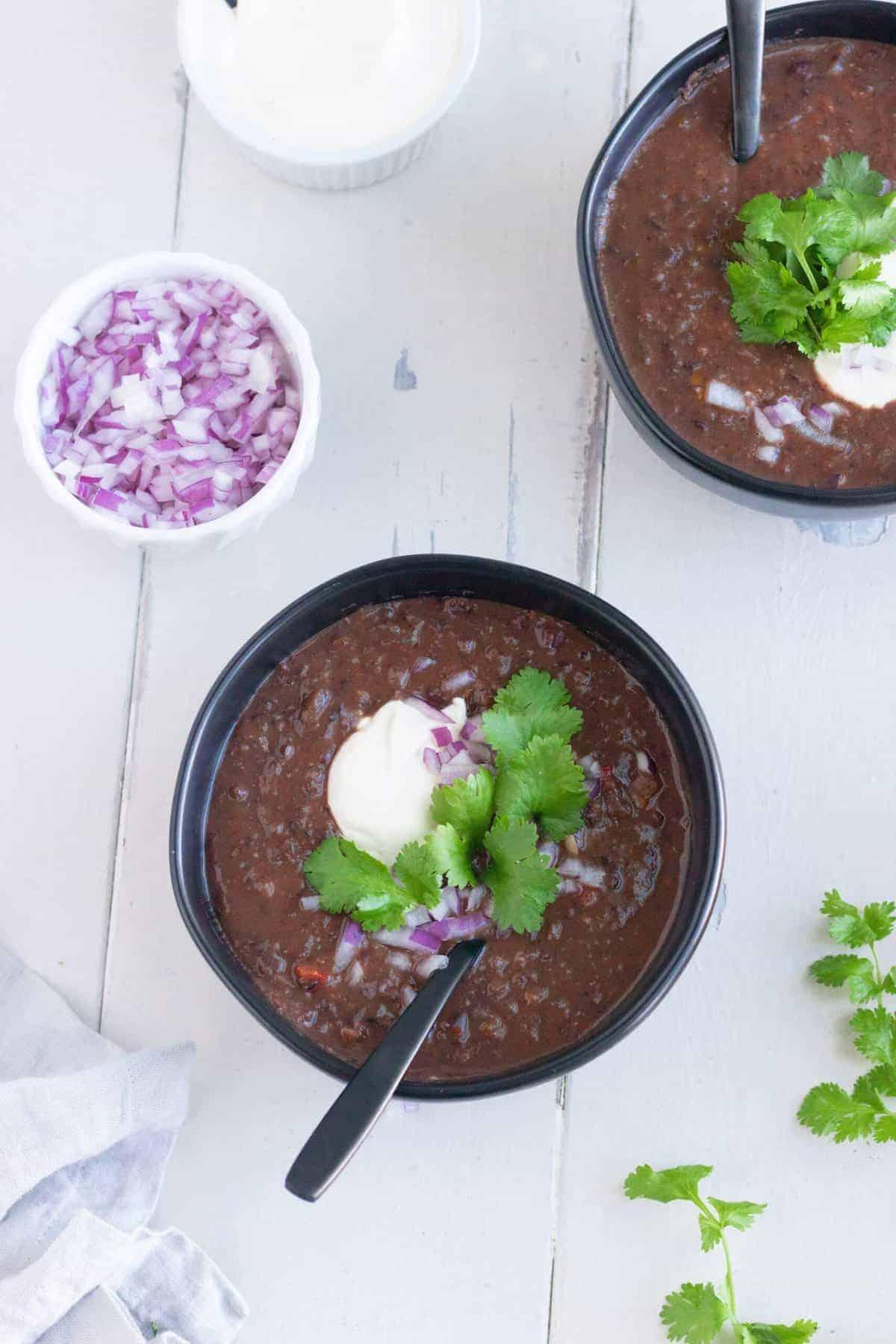 Veggie Black Bean Soup