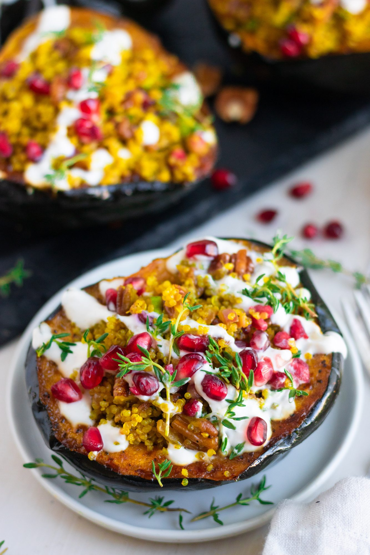 Pecan Quinoa Acorn Squash