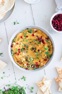 Maple Roasted Butternut Squash Hummus