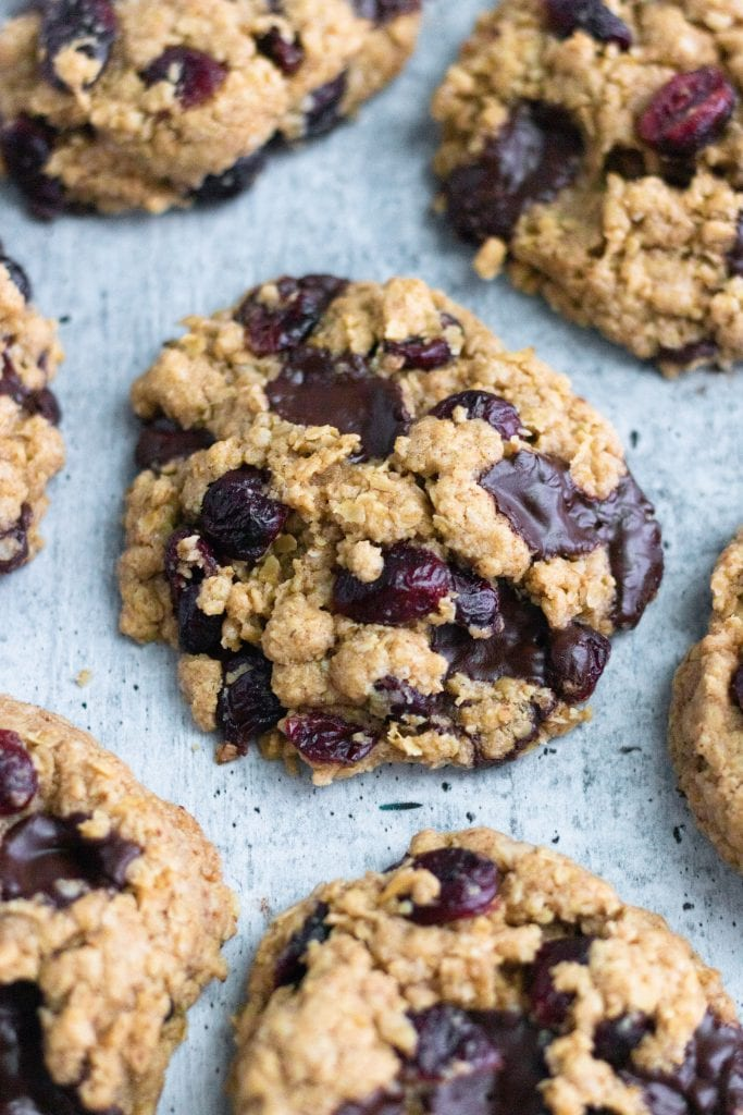 Gluten-Free Cranberry Chocolate Chip Oatmeal Cookies