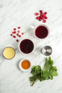 Cranberry Pomegranate Spritzer Ingredients
