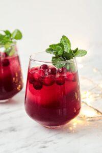 Cranberry Pomegranate Spritzer Recipe