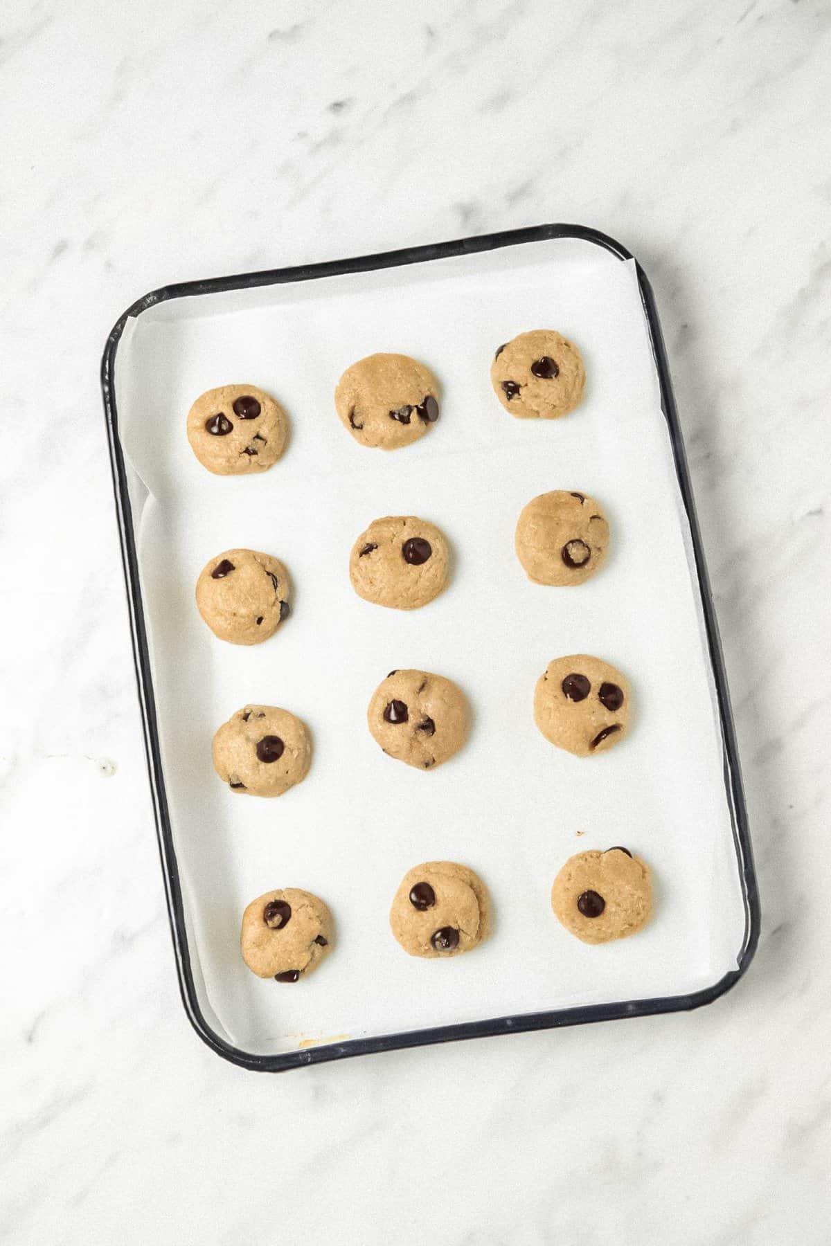 Vegan Mini Chocolate Chip Cookies