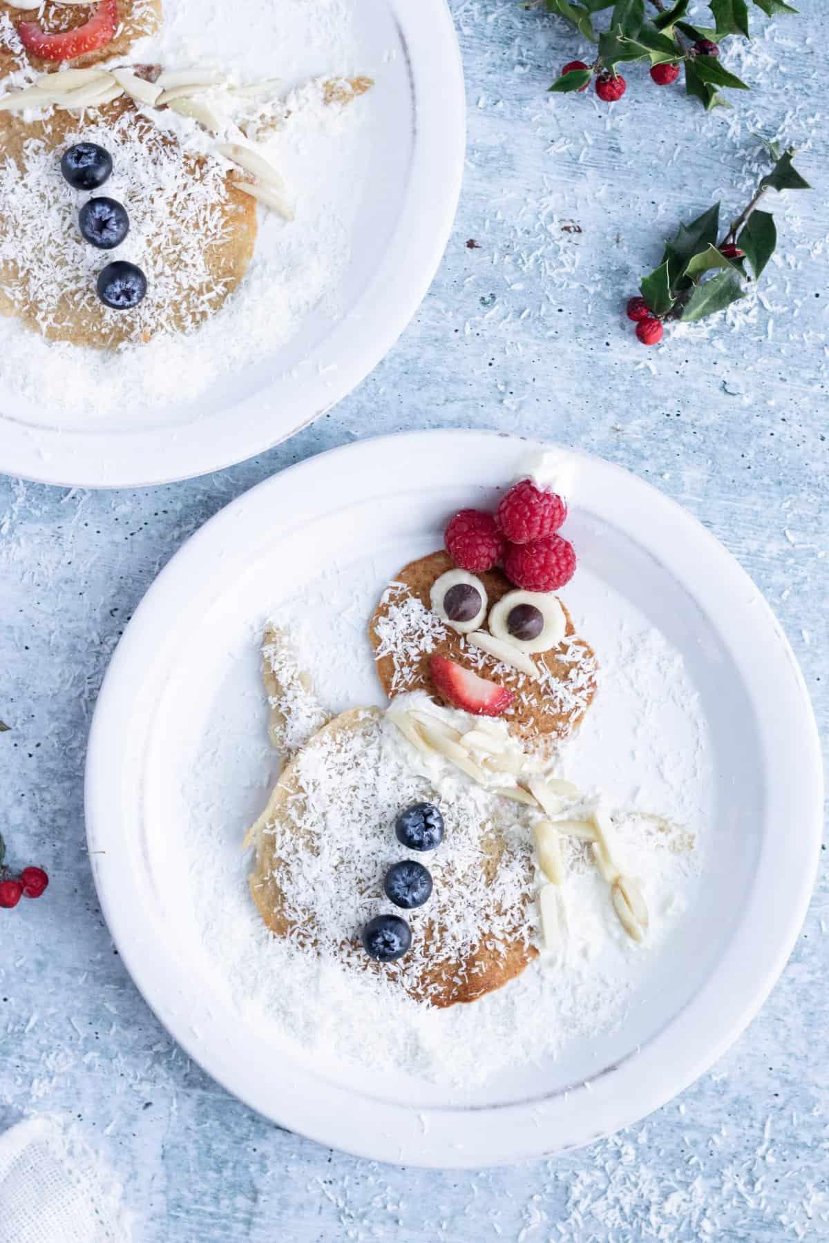 Holiday Character Pancakes