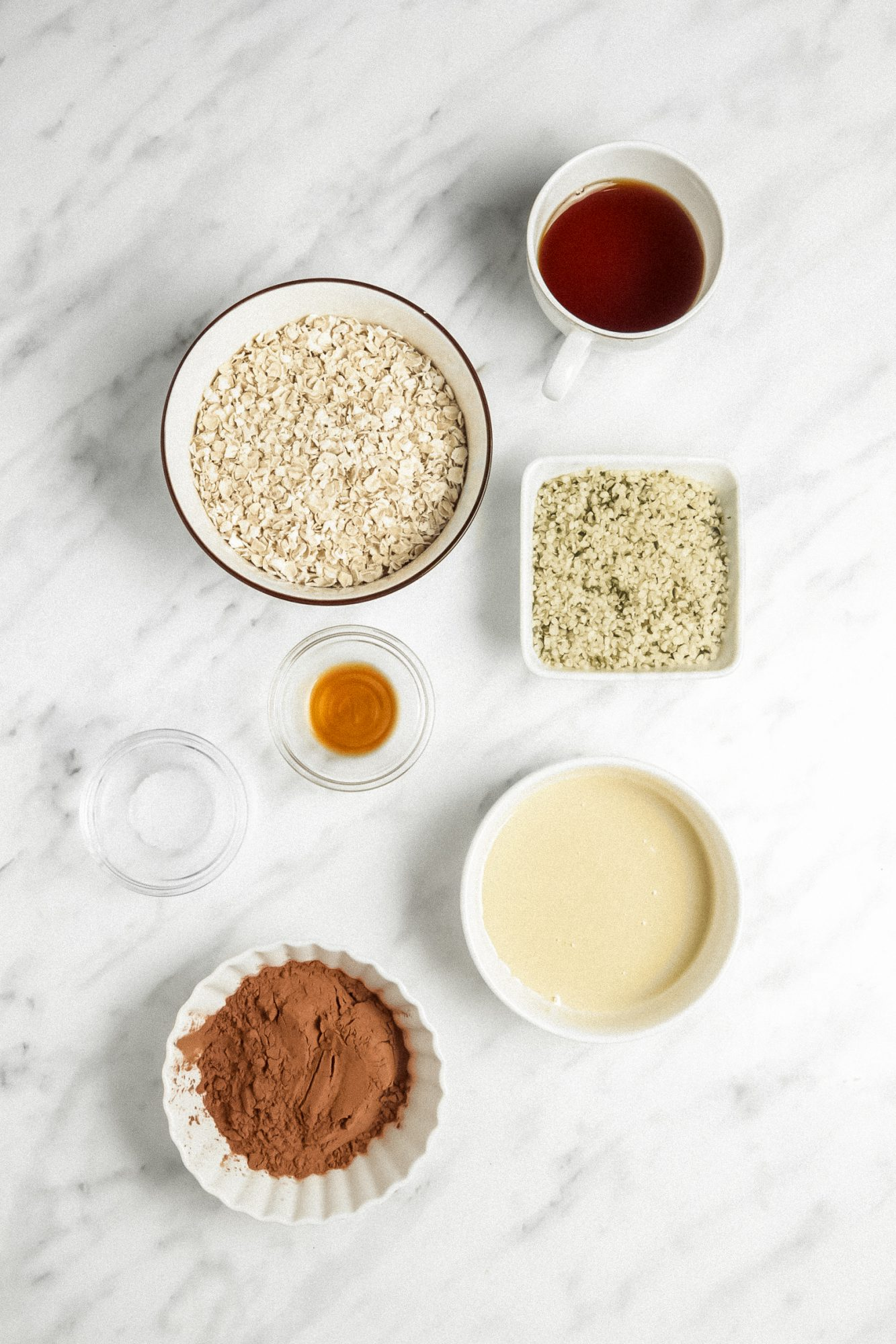 Ingredients for Fudgy Hemp Bites