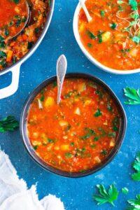 Quinoa Minestrone Soup