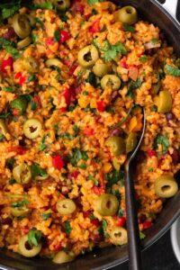 Homemade Spanish Rice and Beans