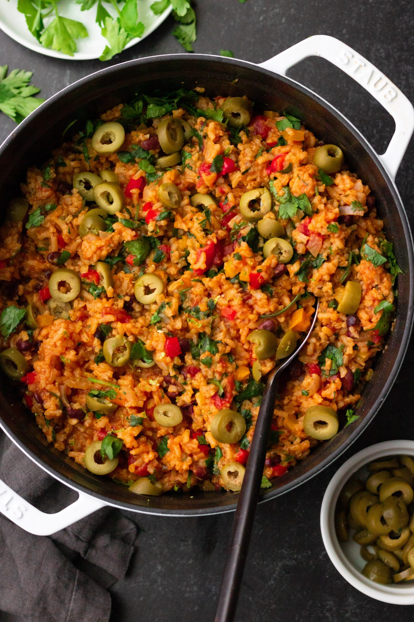 One-Pot Spanish Rice and Beans