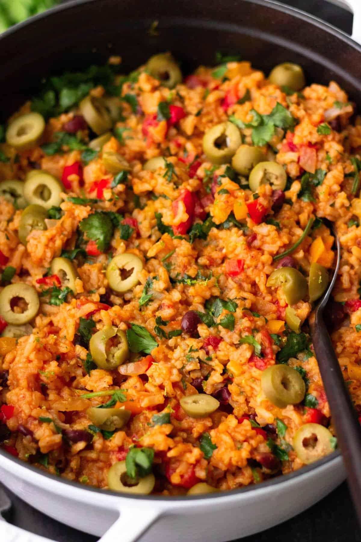 Vegan Spanish Rice and Beans