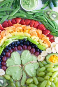 Easy St. Patrick's Day Fruit Platter