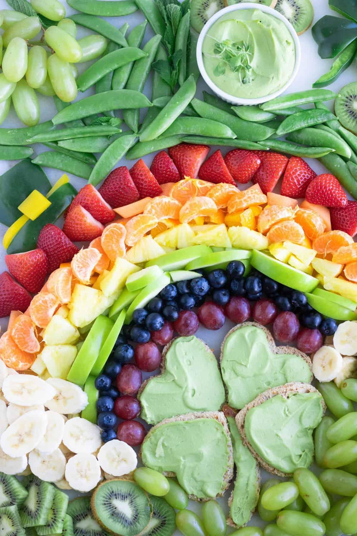 St. Patrick's Day Snack Board Vegan Easy
