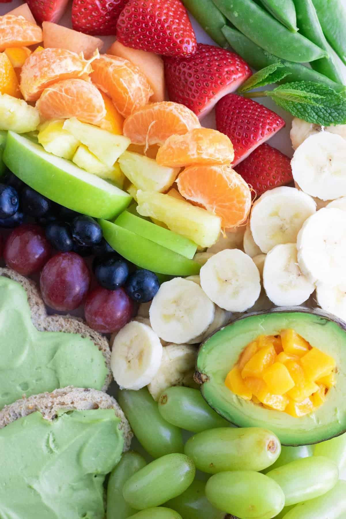 Rainbow Pot of Gold Snack Board