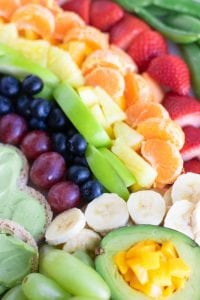 Rainbow Pot of Gold Fruit Platter