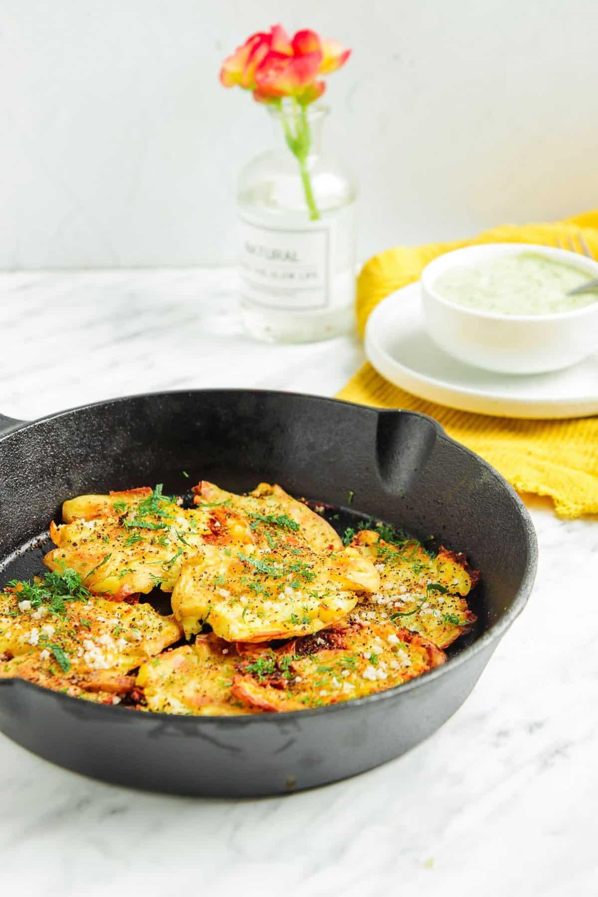 Fingerling Potatoes with Vegan Sauce