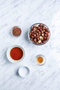 Healthy Homemade Nutella Ingredients