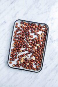 Raw Hazelnuts on Sheetpan