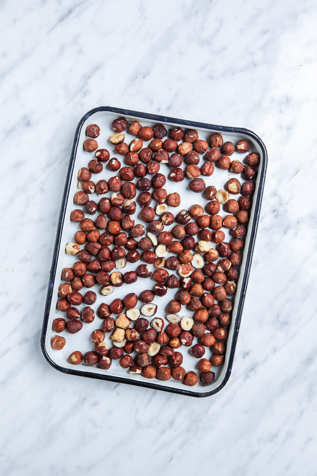Raw Hazelnuts on Sheetpan