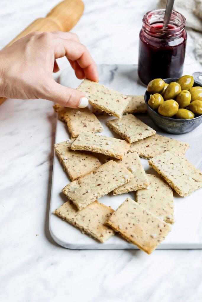 Homemade Almond Flour Crackers