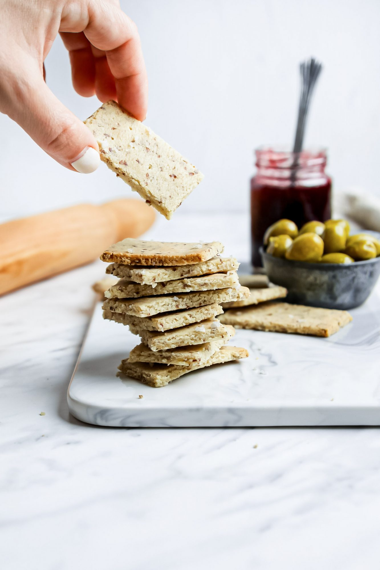 Almond Flour Crackers From Scratch
