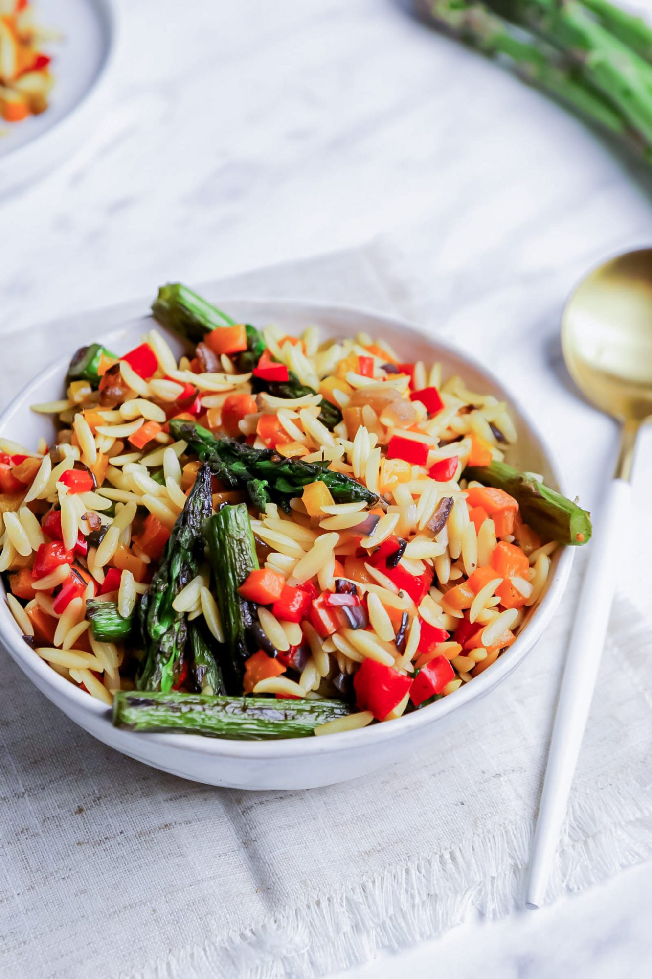 Sauteed Veggies and Orzo