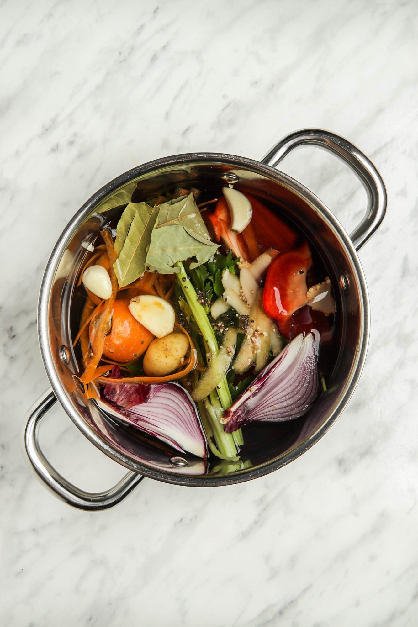 No-Waste Vegetable Broth