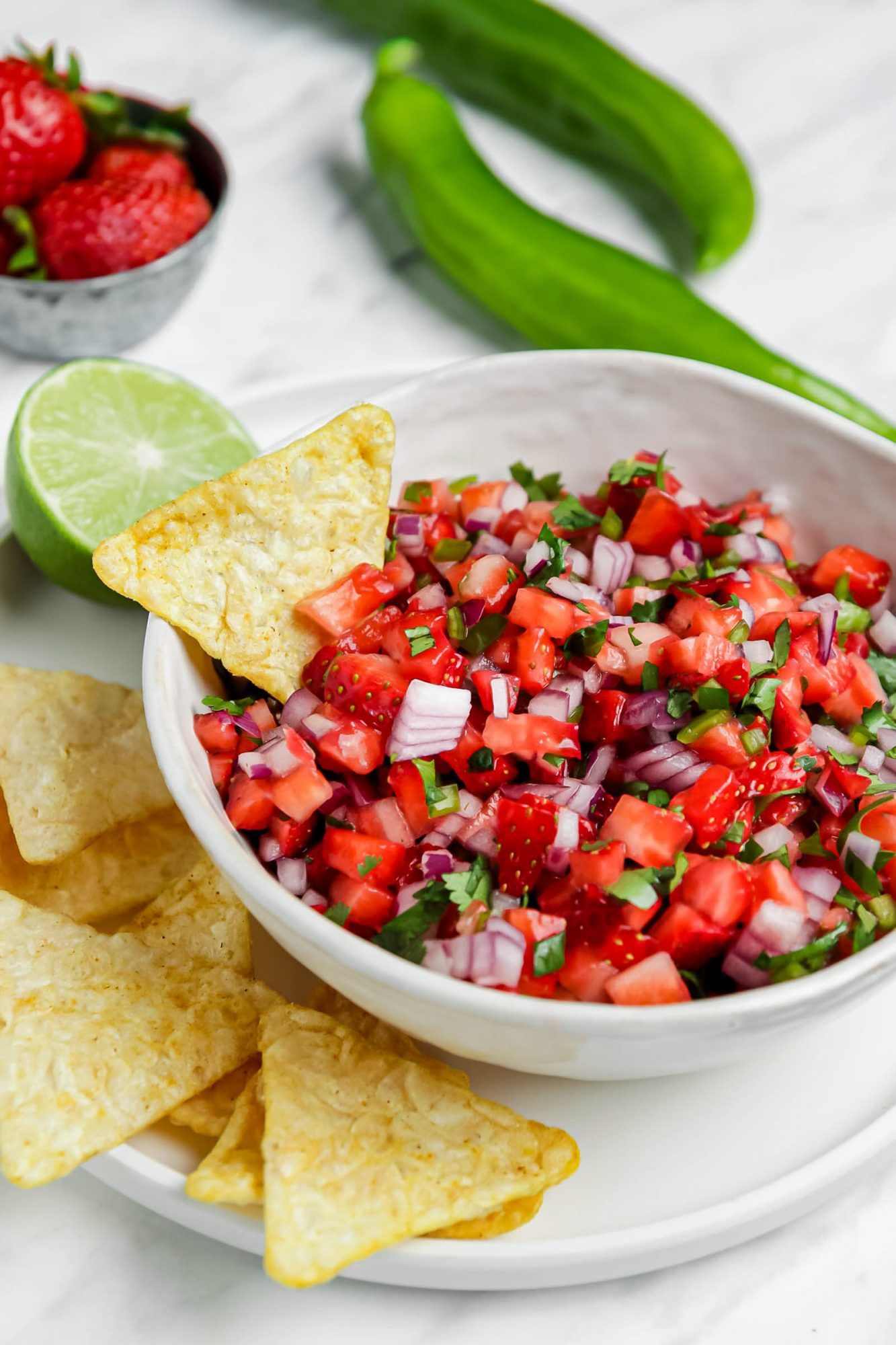 Vegan Strawberry Salsa