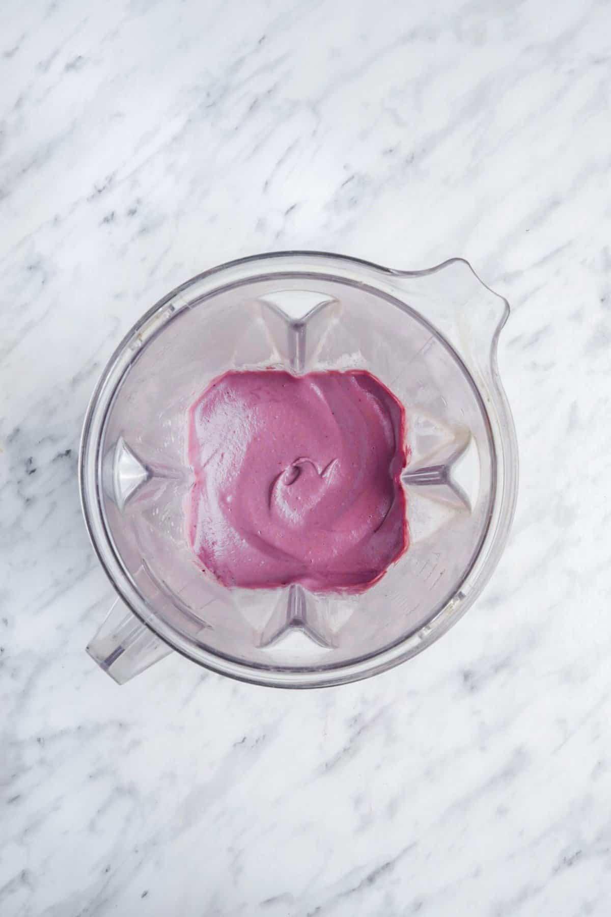 Blender Blackberry Pudding