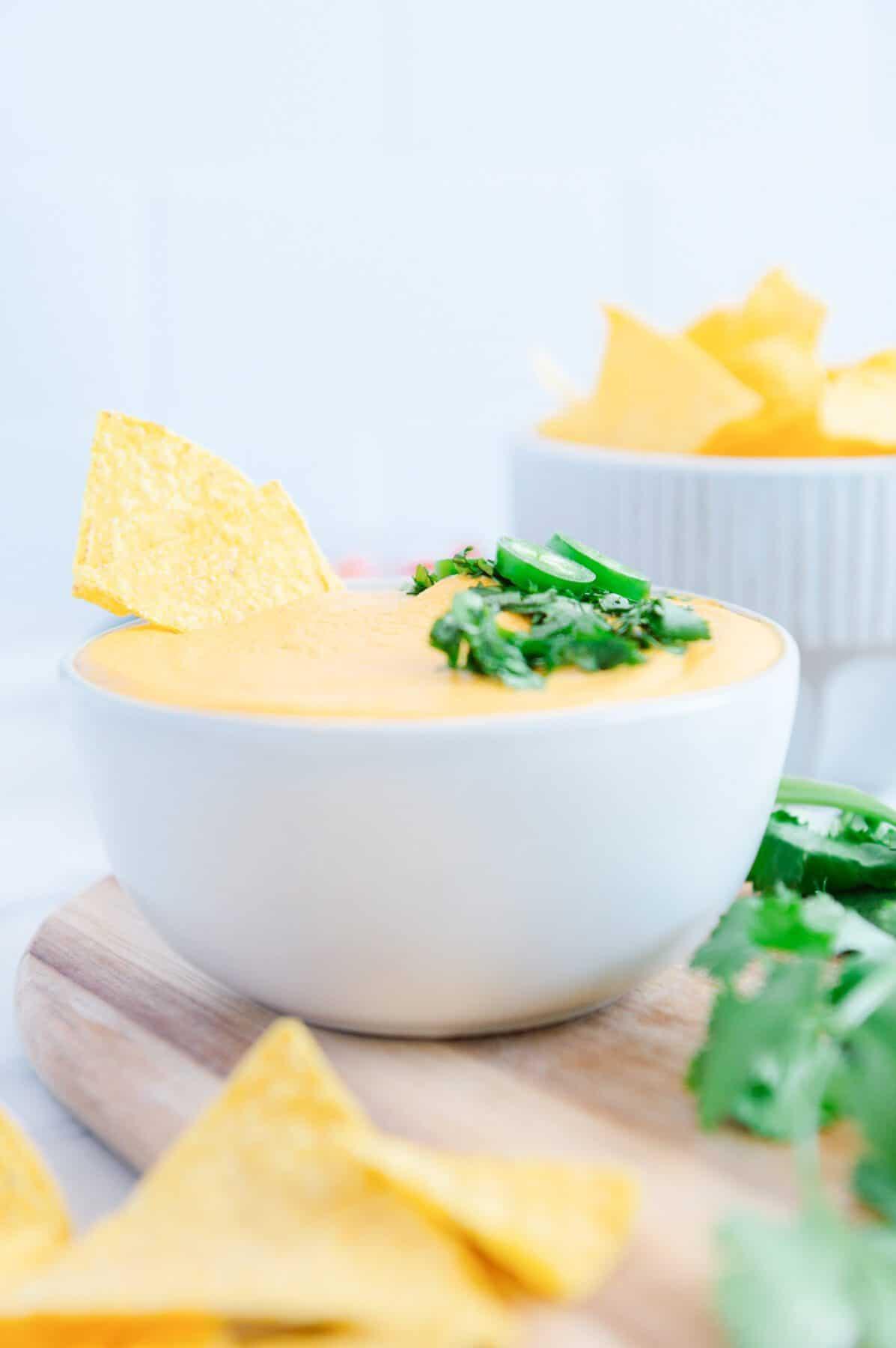 Quick Vegan Nacho Cheese