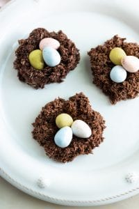 Chocolate Coconut Nest Cookies