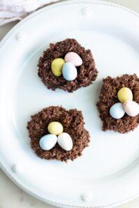 Easter Nest Egg Cookies