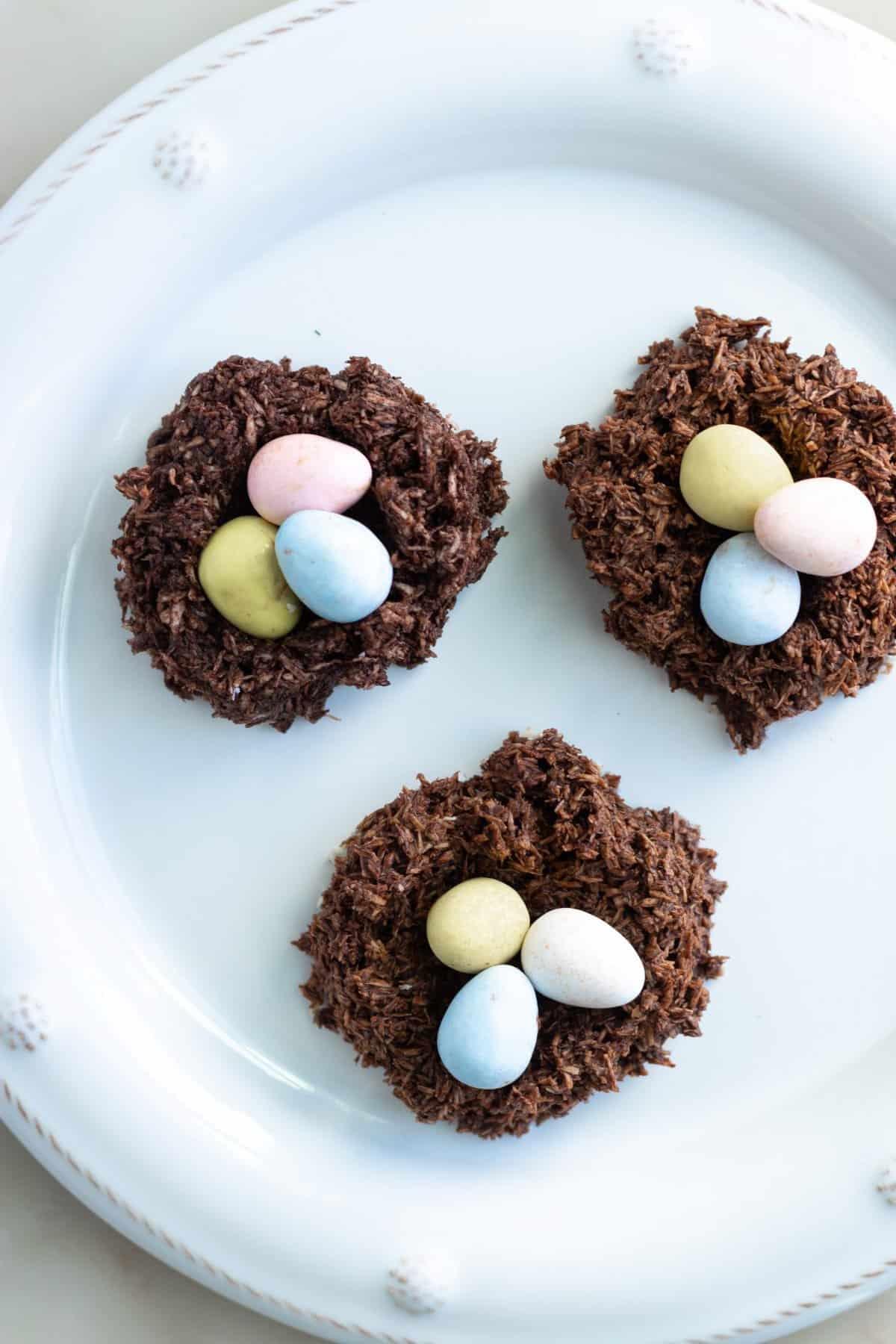 Vegan Cadbury Egg Nest Cookies