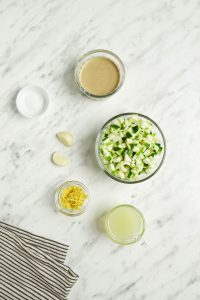 Zucchini Hummus Ingredients