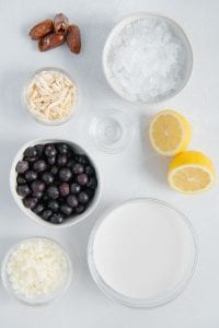 Lemon Blueberry Ingredients