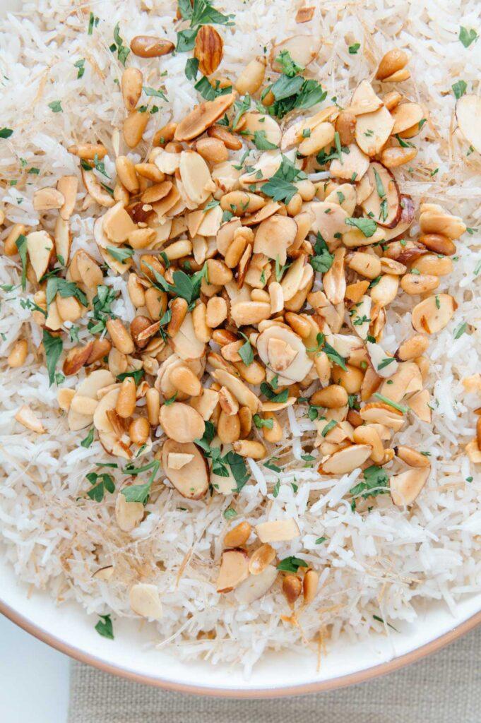 Lebanese Rice Garnishes