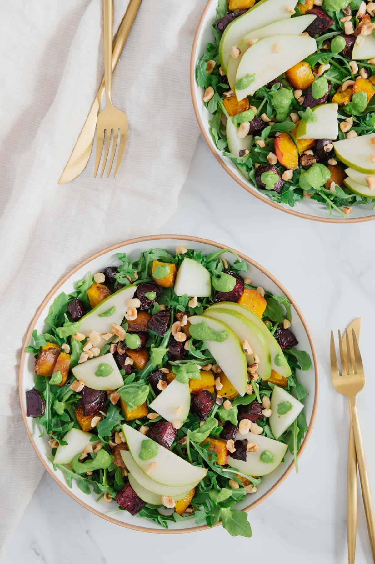 Fresh Pear and Beet Salad