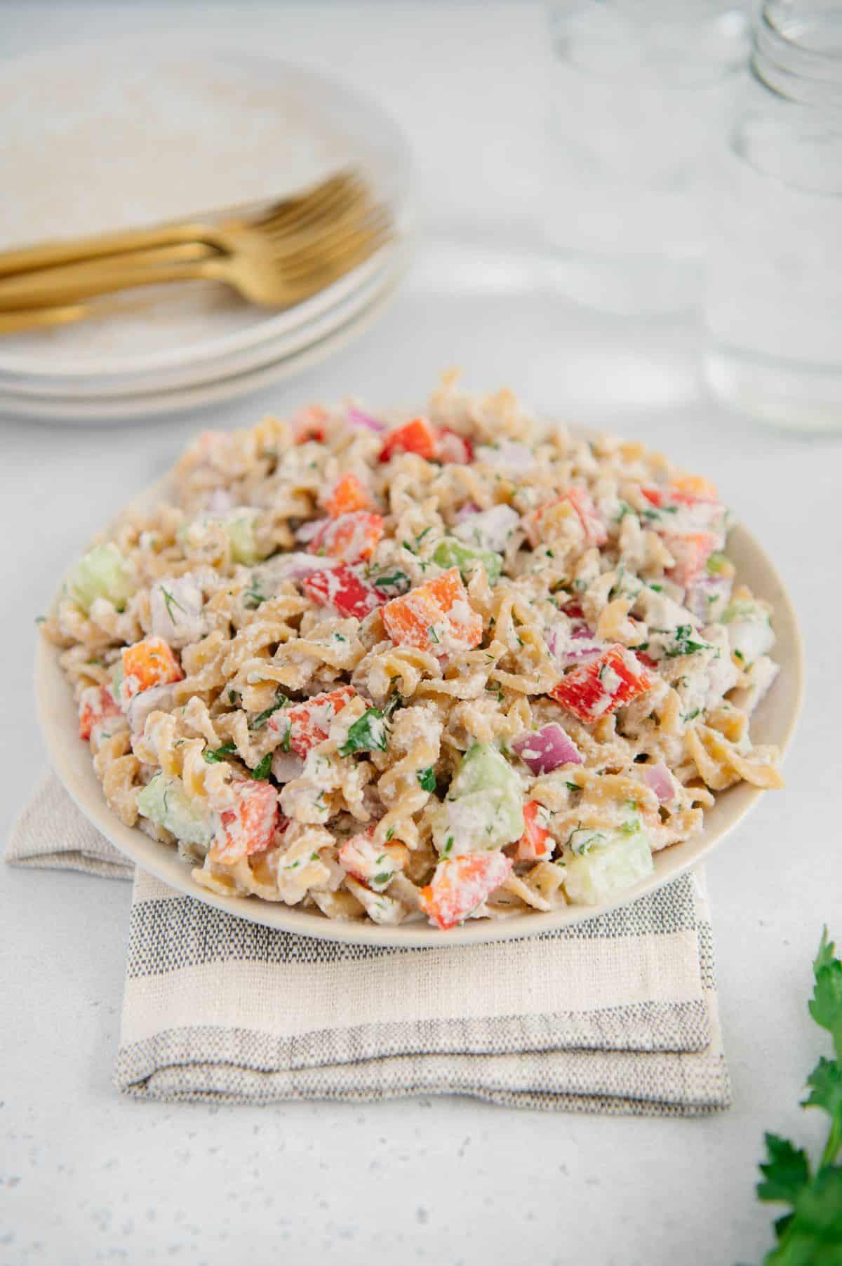 Gluten-Free Vegan Pasta Salad