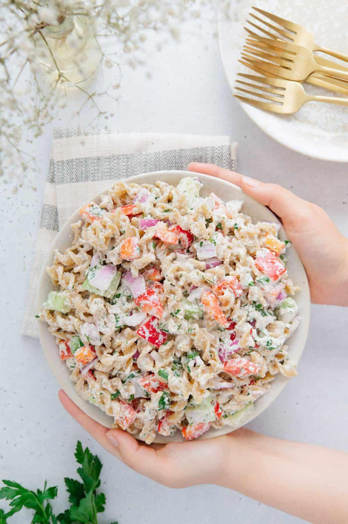 Vegan Picnic Pasta Salad