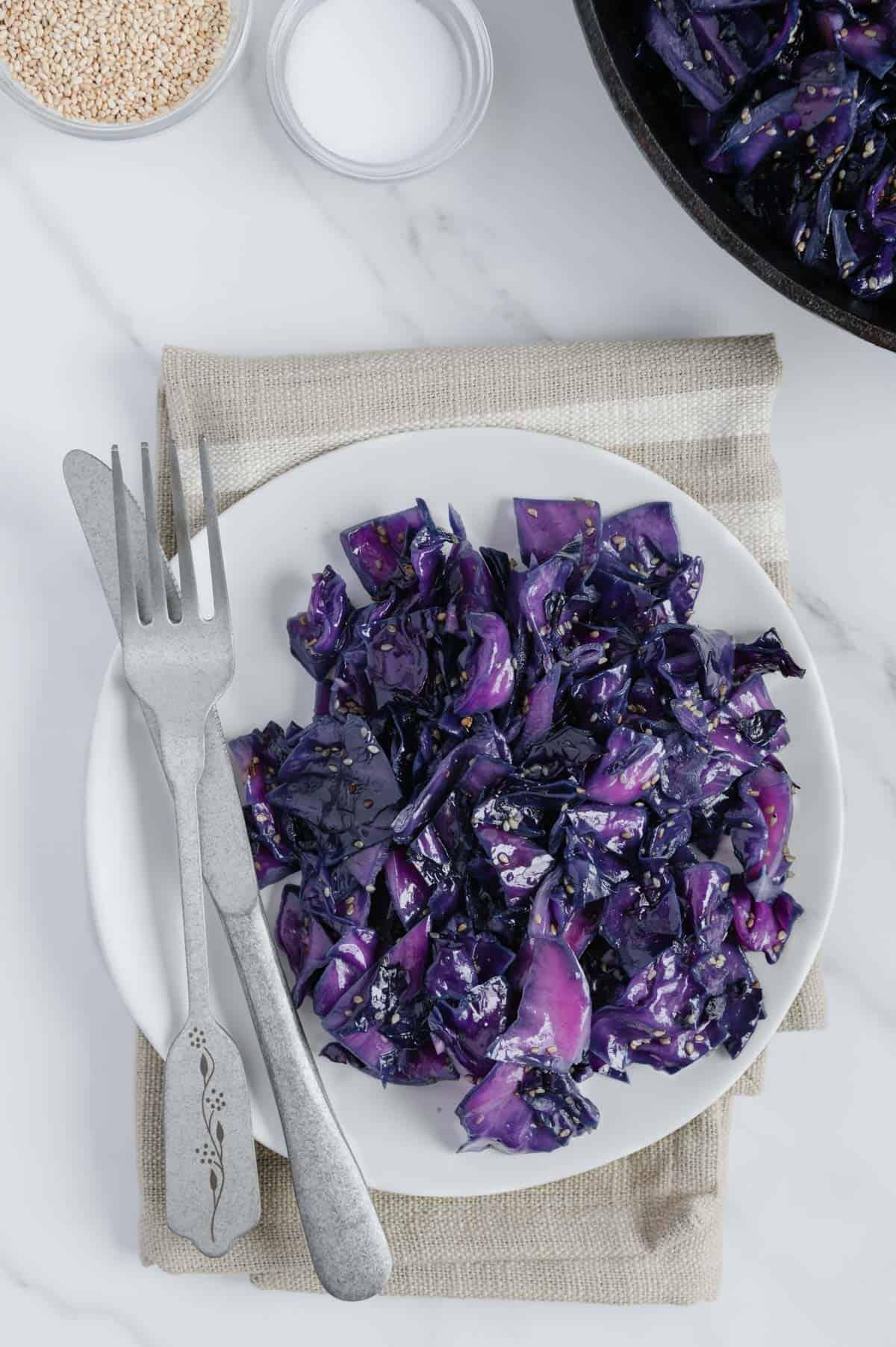 Sauteed Purple Cabbage