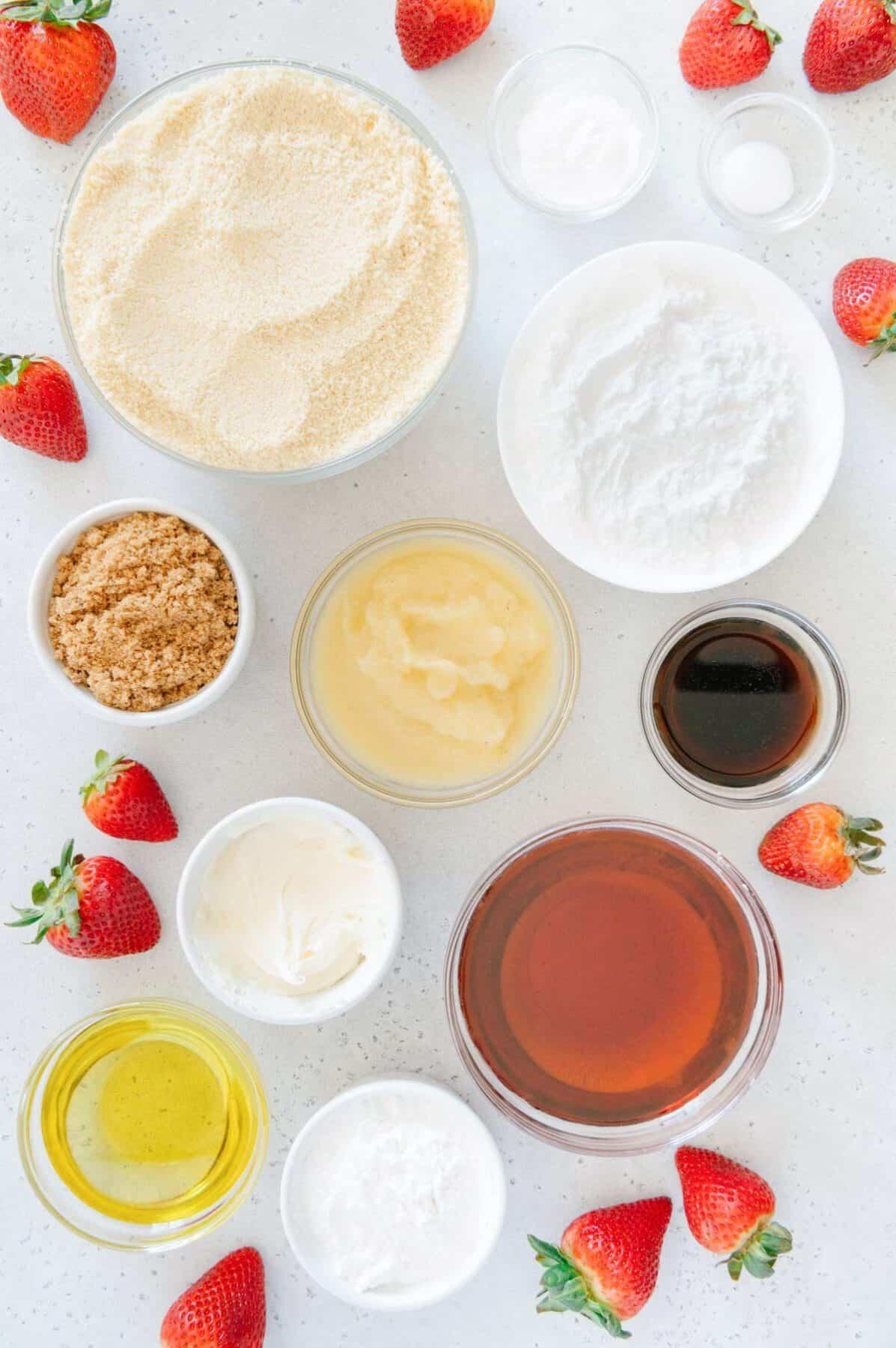 Vegan and Paleo Strawberry Shortcake Ingredients