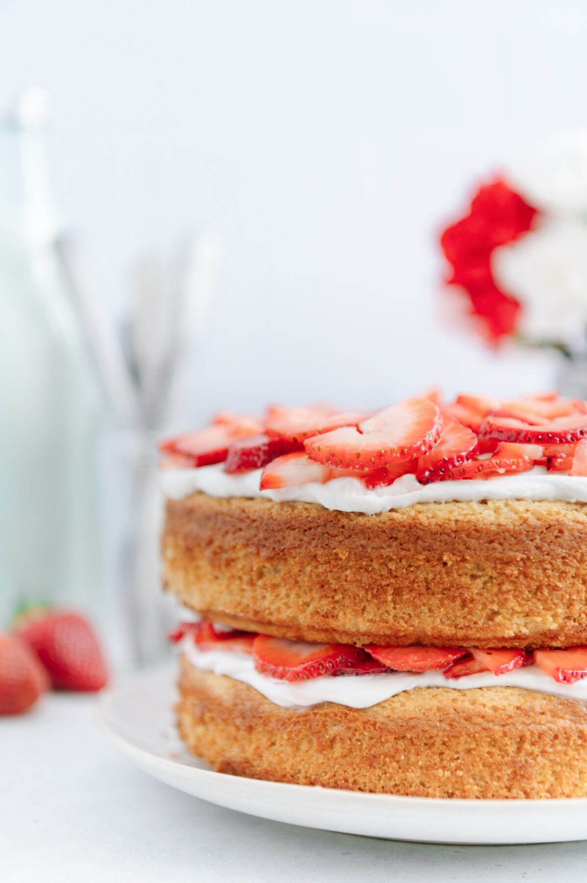 Vegan Paleo Strawberry Shortcake Cake