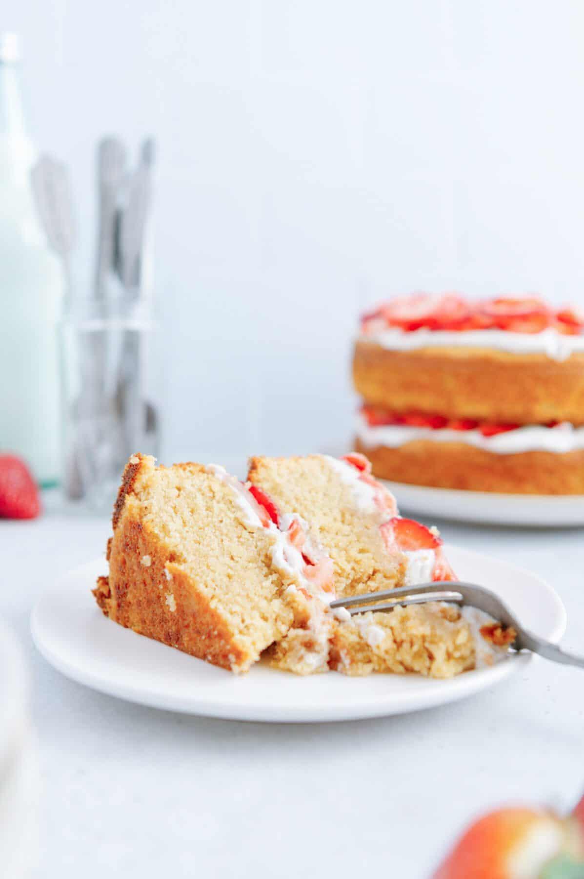 Slice of Vegan Paleo Strawberry Shortcake