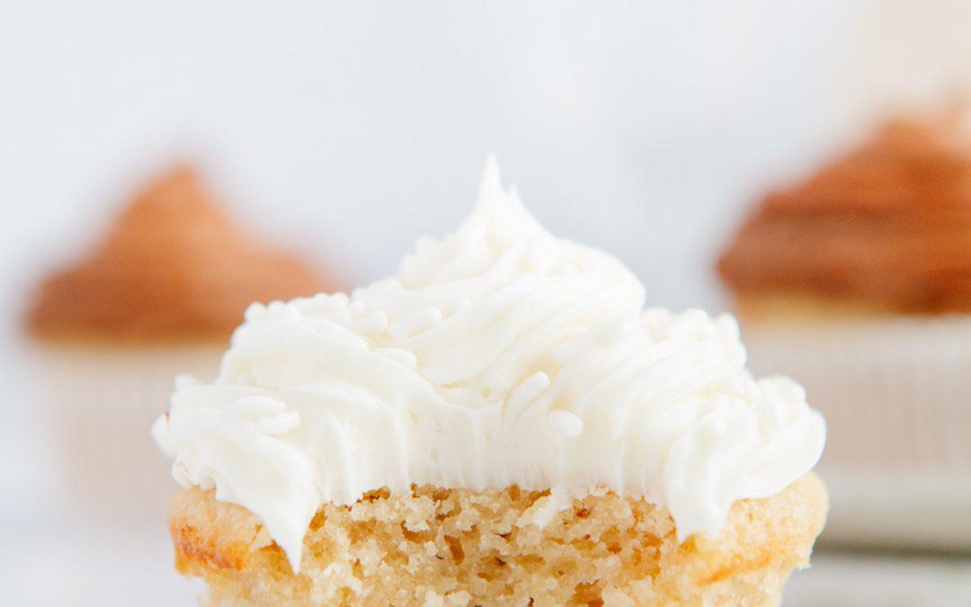 Best Vegan + Paleo Vanilla Cupcakes
