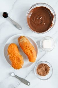 Chocolate Sweet Potato Frosting Ingredients