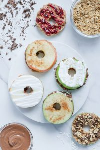 Healthy Apple Ring Sandwiches