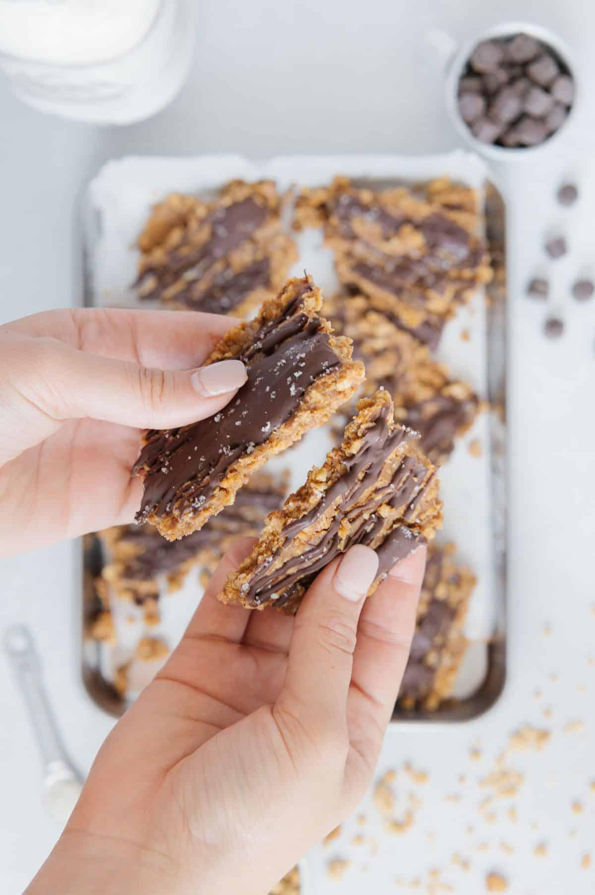 Vegan Almond Granola Bark
