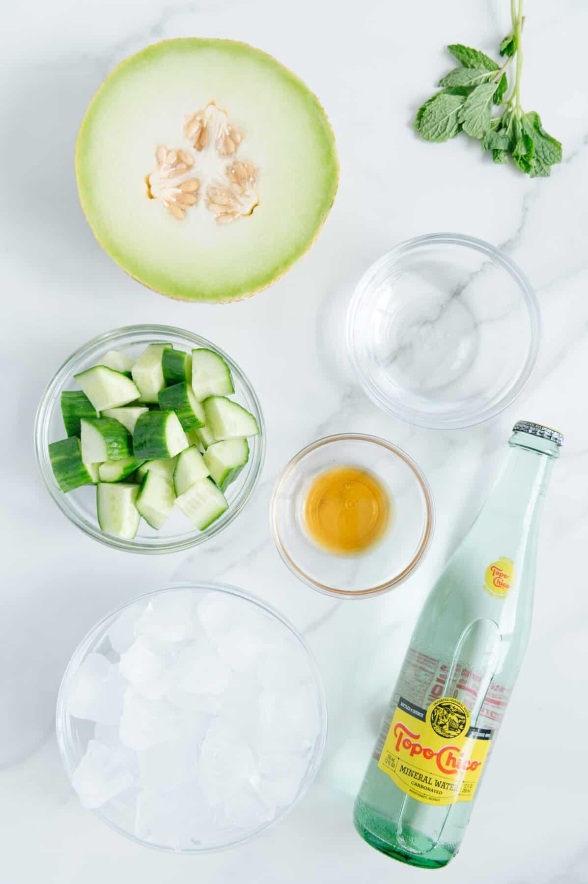 Cucumber Melon Spritzer Ingredients